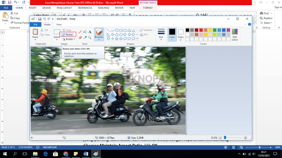 cara memperbesar ukuran foto jpg
