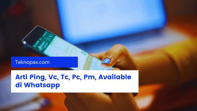 Arti Ping, Vc, Ttc, Pc, Pm, Available di Whatsapp (4)