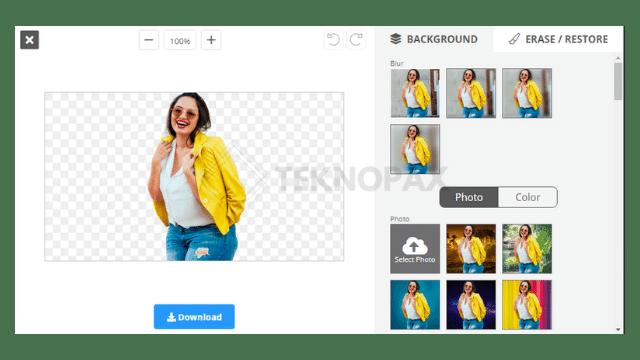 Cara mengganti background foto online