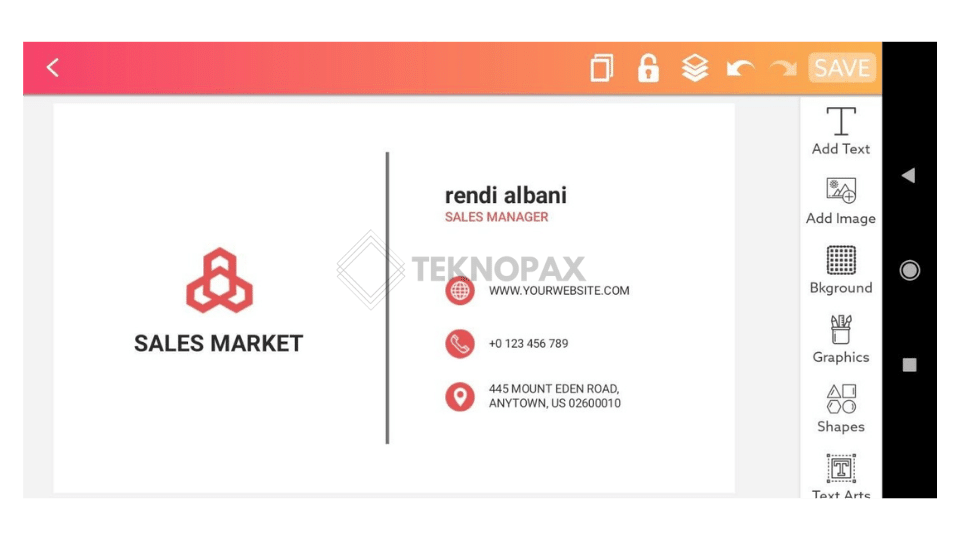 cara membuat kartu nama menggunakan aplikasi android