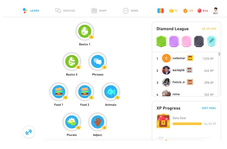 aplikasi belajar bahasa inggris duolingo