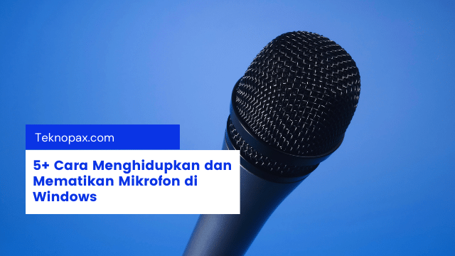 5+ Cara Menghidupkan dan Mematikan Mikrofon di Windows
