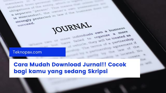 Cara download jurnal