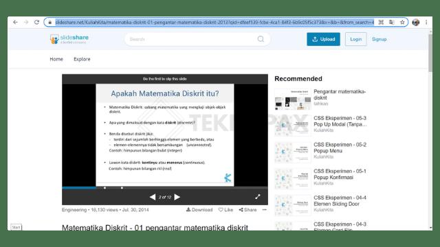 cara download di slideshare