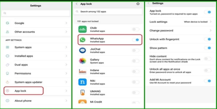 Cara Mengunci WhatsApp Tanpa Aplikasi Untuk HP Merk Xiaomi