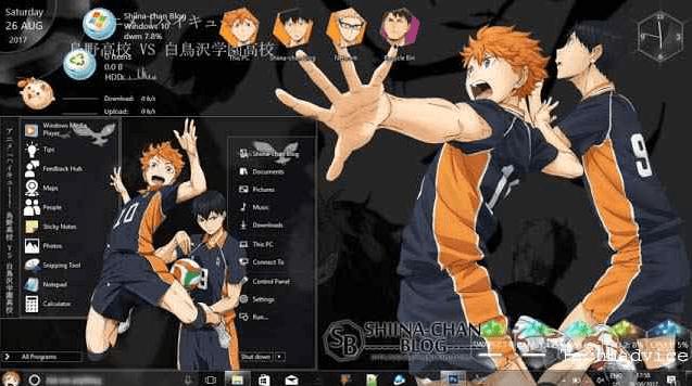 Tema windows keren anime haikyuu